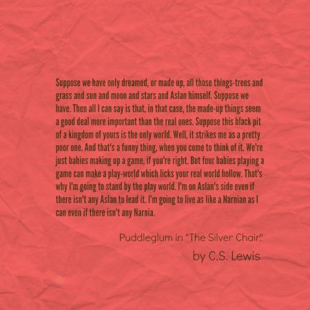 Narnia Puddleglum The Silver Chair