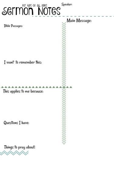 sermon notes 4